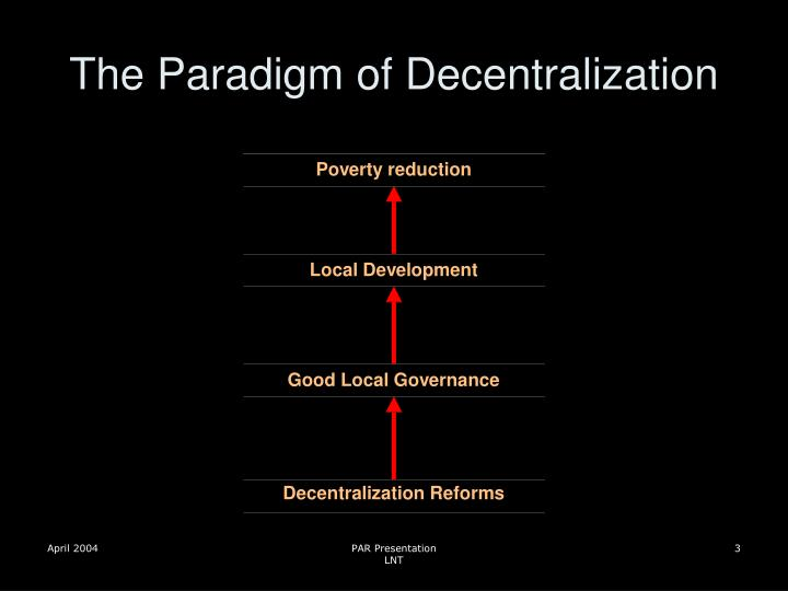 The paradigm of decentralization