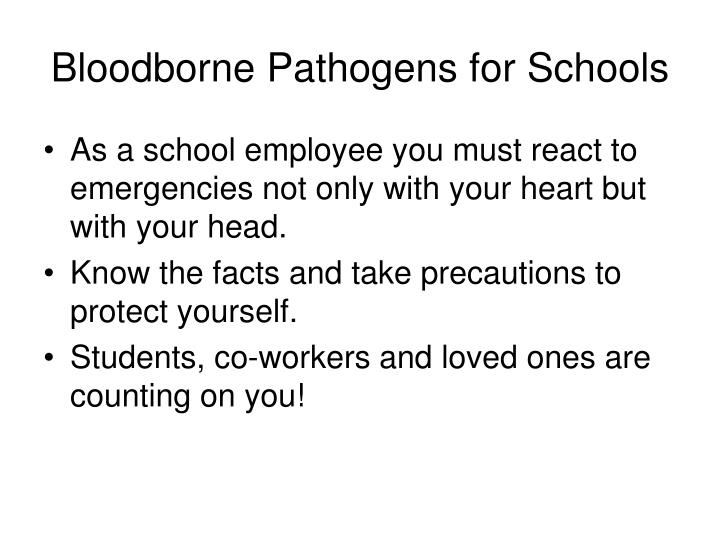 Bloodborne Pathogens for Schools