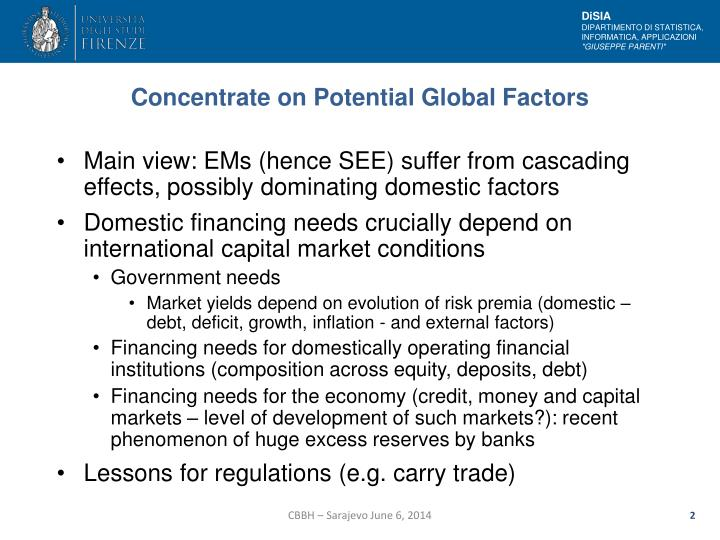 Concentrate on Potential Global Factors