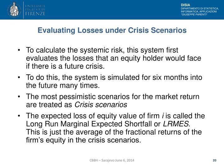 Evaluating Losses under Crisis Scenarios