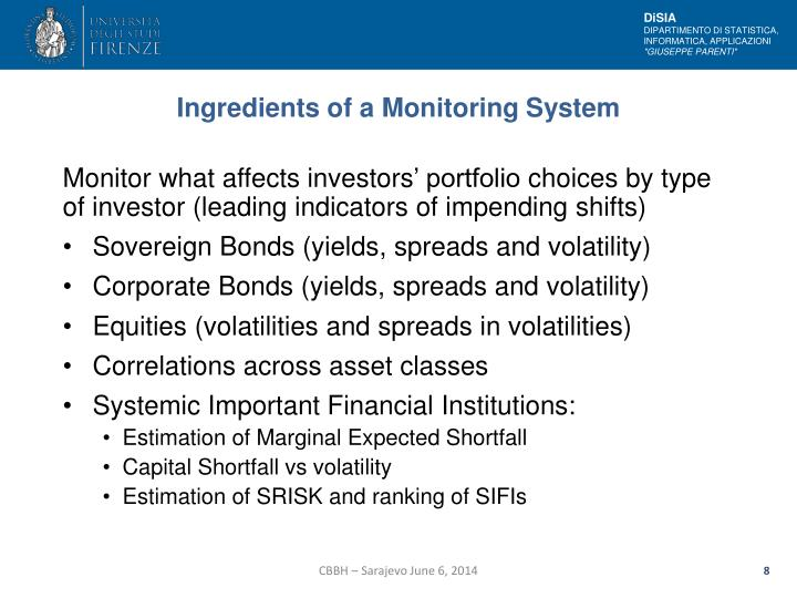 Ingredients of a Monitoring System