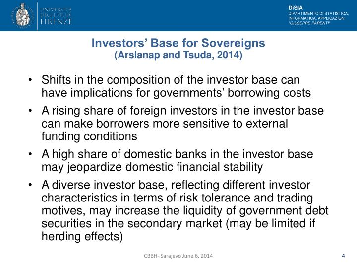 Investors' Base for Sovereigns