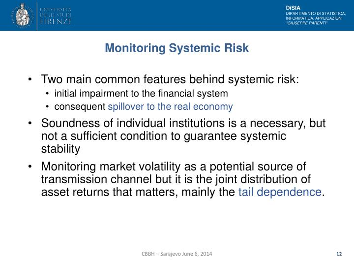 Monitoring Systemic Risk