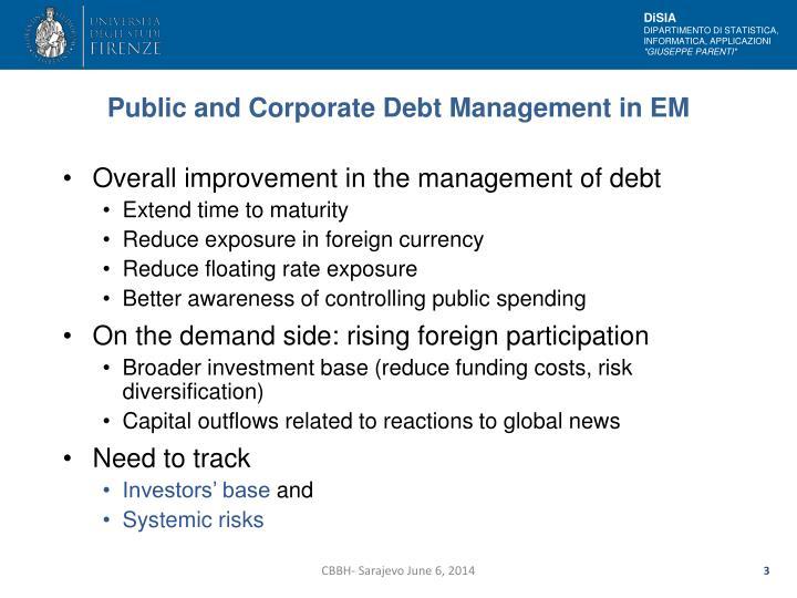 Public and Corporate Debt Management in EM