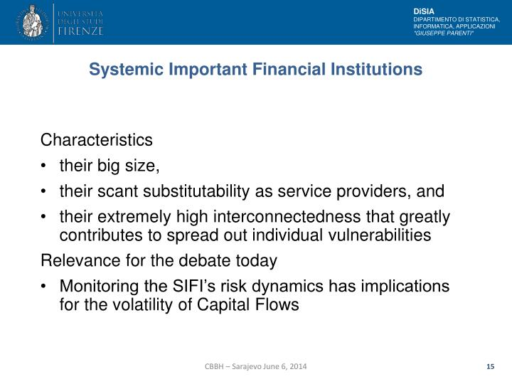 Systemic Important Financial Institutions