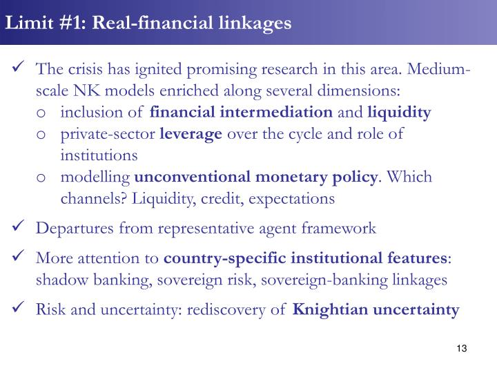 Limit #1: Real-financial linkages