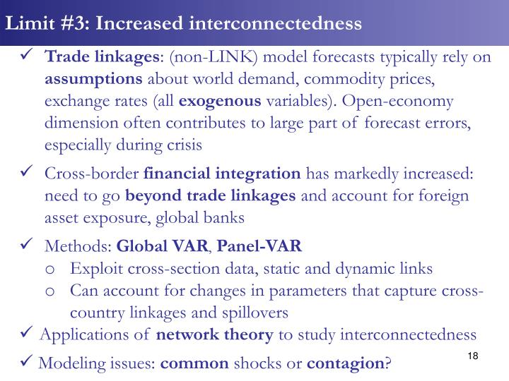 Limit #3: Increased interconnectedness