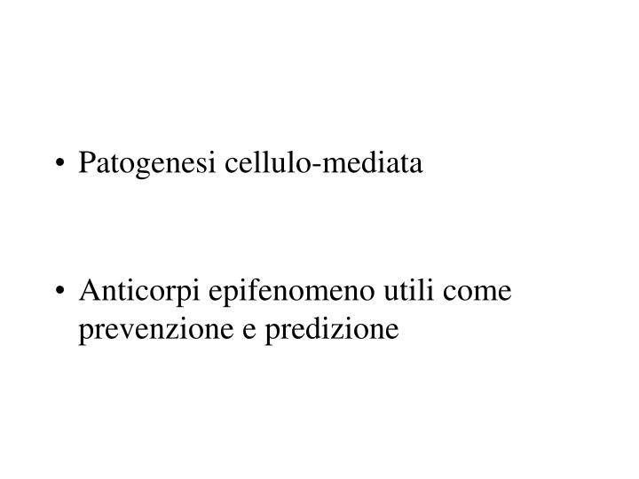 Patogenesi cellulo-mediata