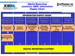 digital reporting summary xbrl information supply chain