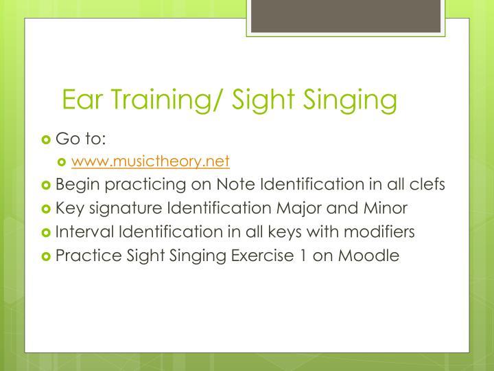 Ear Training/ Sight Singing