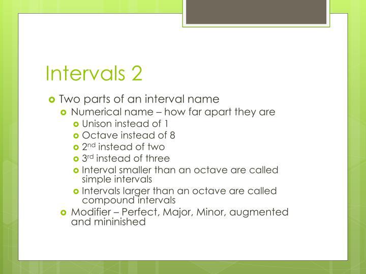 Intervals 2