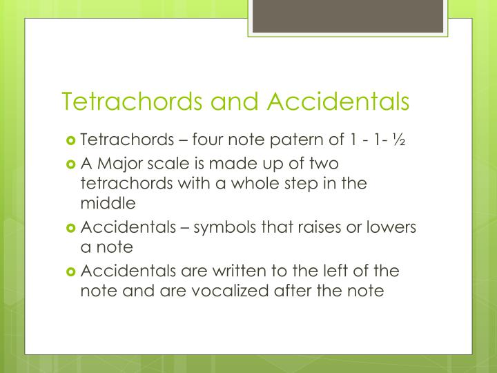 Tetrachords