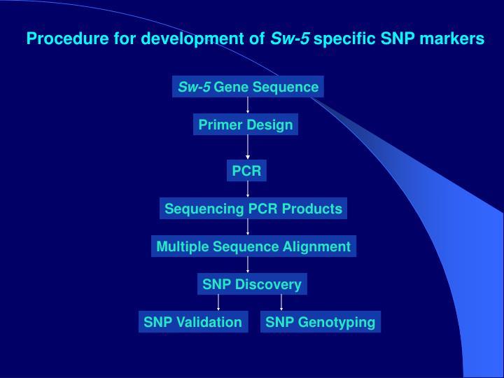 Procedure for development of