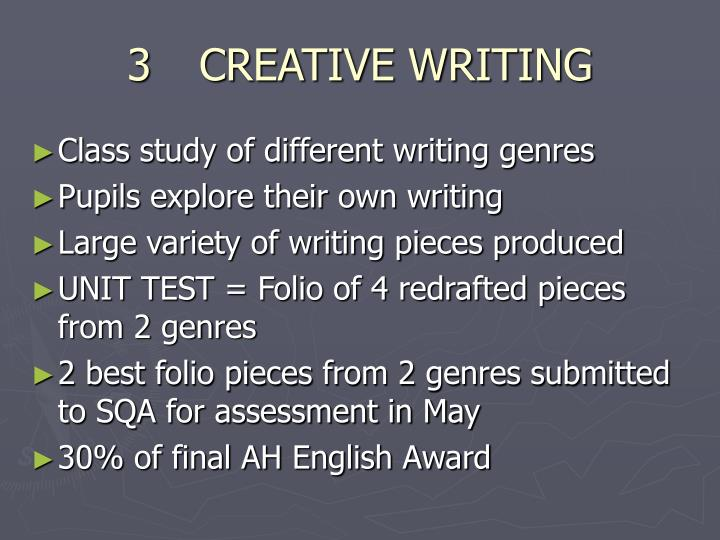 3CREATIVE WRITING