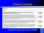 fluency sample