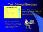task oriented exercises