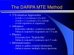 the darpa mte method