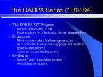 the darpa series 1992 94