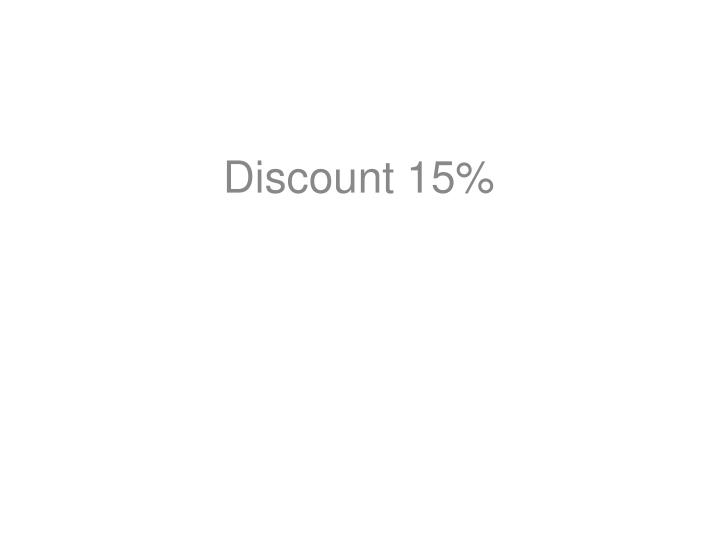 Discount 15%