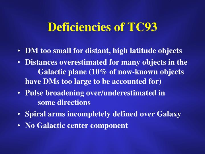 Deficiencies of TC93