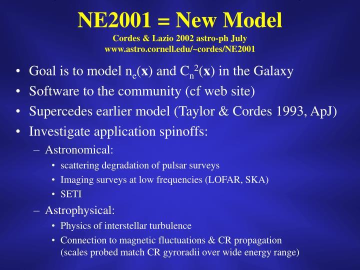 NE2001 = New Model