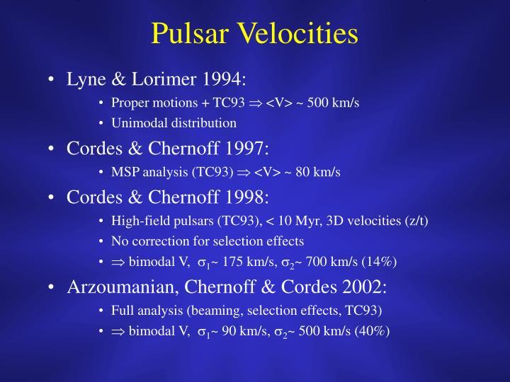 Pulsar Velocities