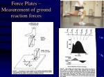 force plates measurement of ground reaction forces