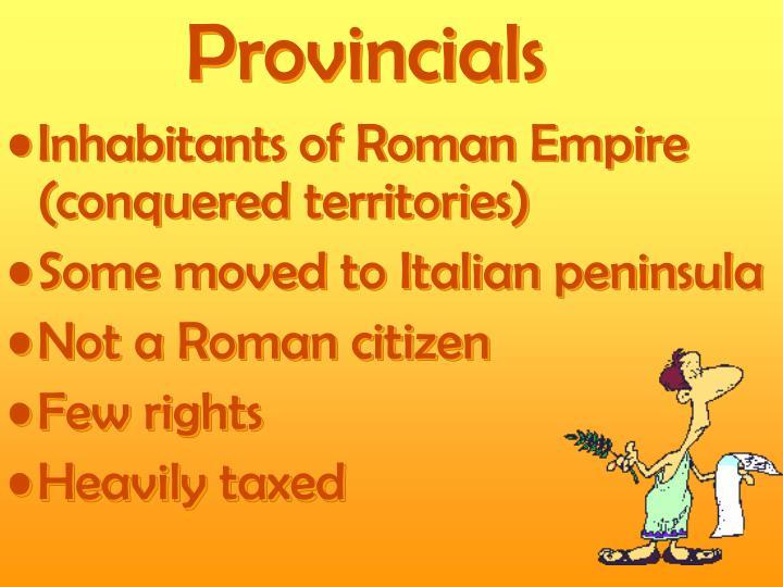 Provincials