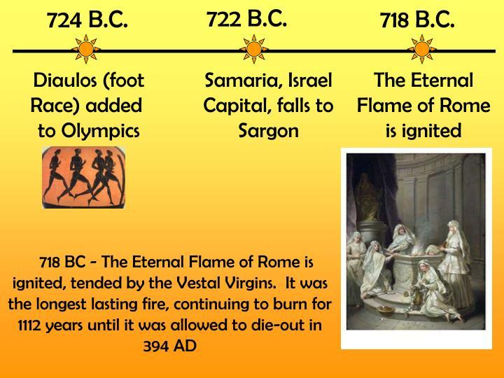 722 B.C.