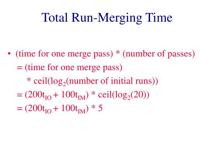 Total Run-Merging Time
