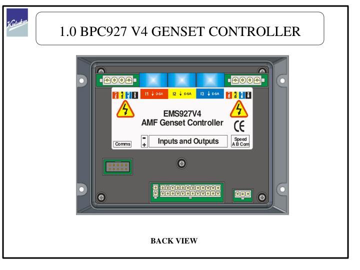 1.0 BPC927 V4 GENSET CONTROLLER