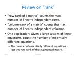 review on rank