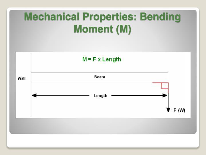 Mechanical Properties: Bending Moment (M)
