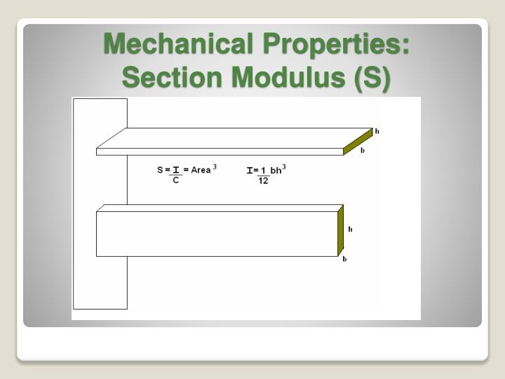 Mechanical Properties: Section Modulus (S)