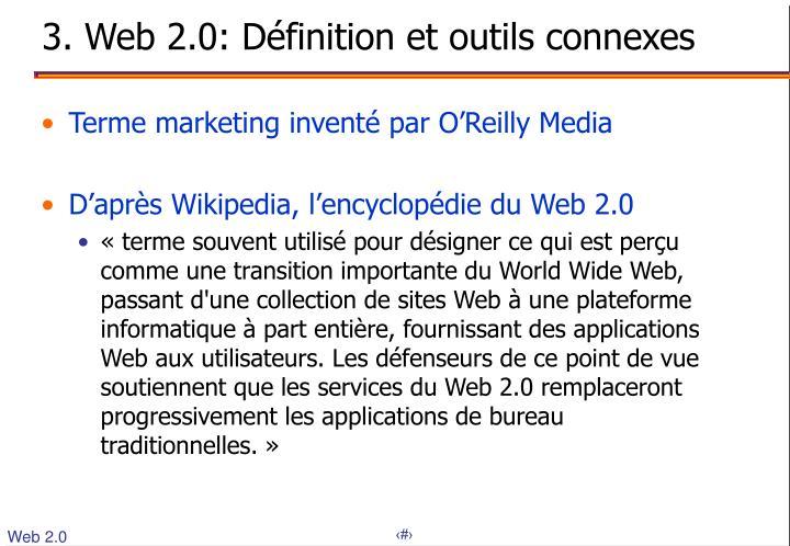 3. Web 2.0: Définition et outils connexes