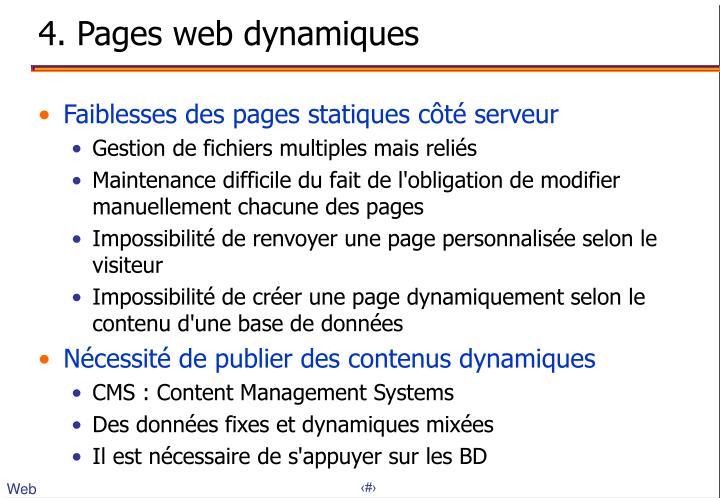 4. Pages web dynamiques
