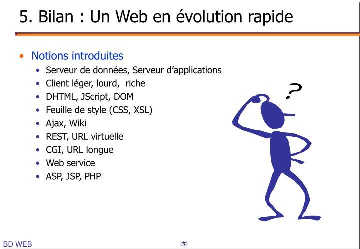 5. Bilan : Un Web en évolution rapide