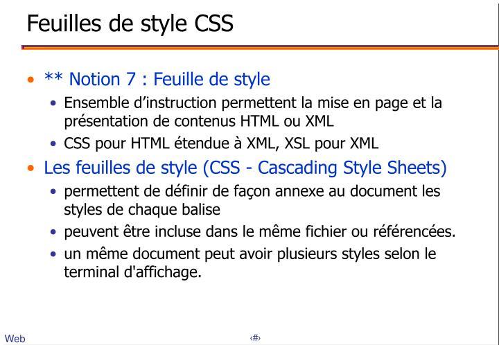 Feuilles de style CSS