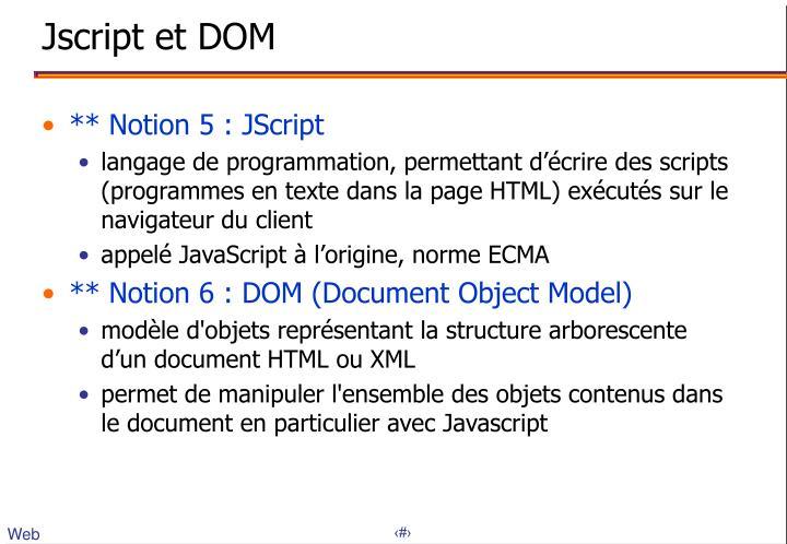 Jscript et DOM