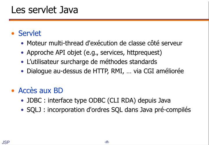Les servlet Java