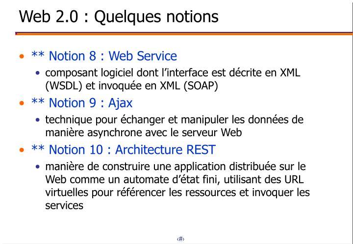 Web 2.0 : Quelques notions