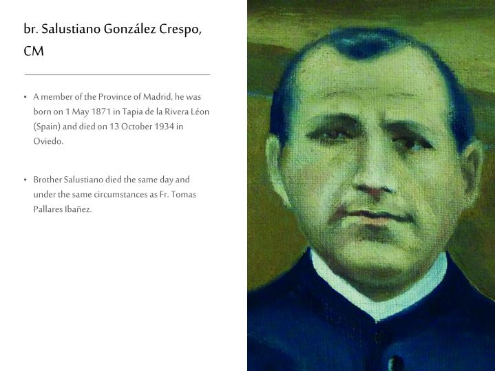 br. Salustiano González Crespo, CM
