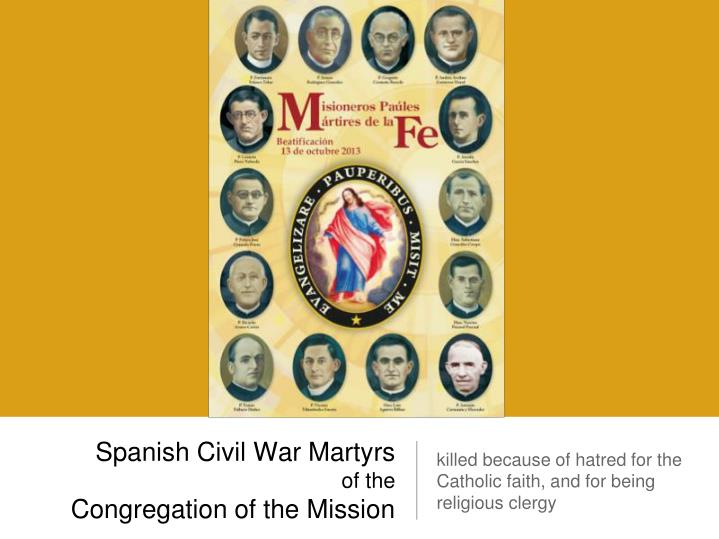 Spanish civil war martyrs of the congregation of the mission