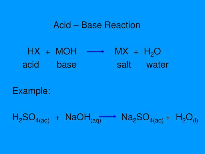 Acid – Base Reaction