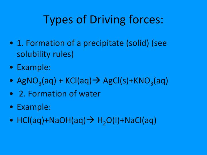 Types of Driving forces: