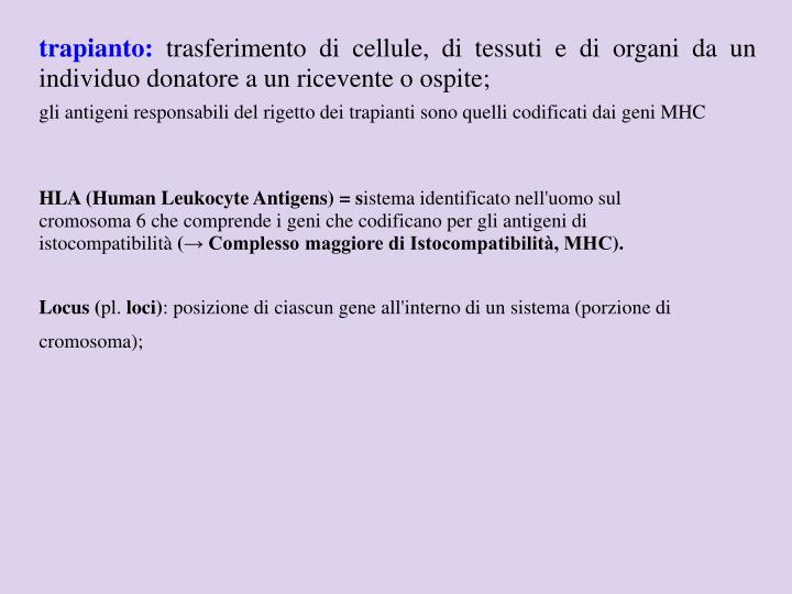 trapianto: