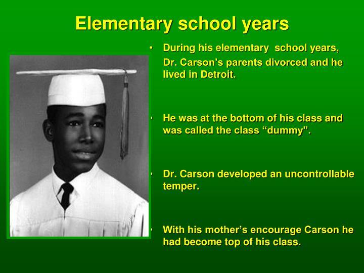 Elementary school years
