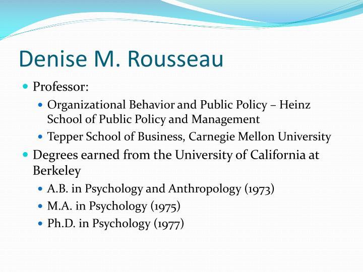 Denise M. Rousseau