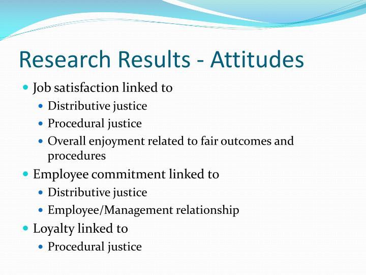Research Results - Attitudes