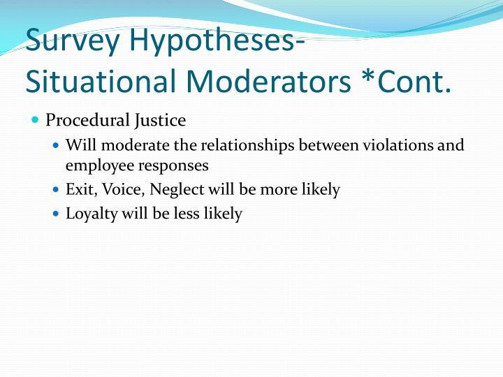 Survey Hypotheses-